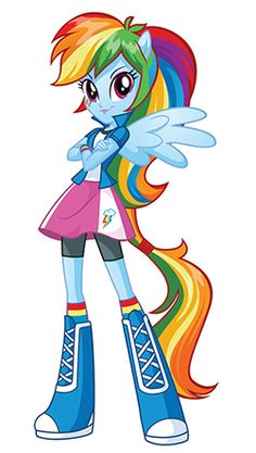 Rainbow Dash in My Little Pony Equestria Girls. #MLPEG