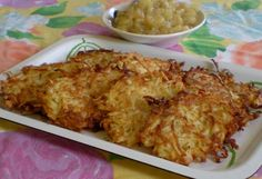 2 large potatoes, peeled (if russets are used) and grated onion, grated 1 egg, lightly beaten 1 heaping tablespoon flour salt and pepper to taste oil for shallow frying Spread grated potatoes a… Recipe For 1, Potato Latkes, Vegetarian Recipes, Cooking Recipes, Potato Onion, Wedding Soup, Potato Dishes, Vegetable Sides, Side Recipes