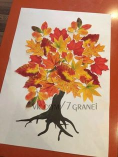 Strom Fall Crafts For Kids, Thanksgiving Crafts, Art For Kids, Christmas Crafts, Diy Crafts To Do, Autumn Art, Autumn Leaves, Art Floral, Leaf Animals