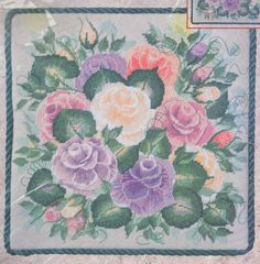 """BUCILLA DONNA DEWBERRY FLORAL """"MEDLEY OF ROSES"""" NEEDLEPOINT KIT ~ SEALED"""