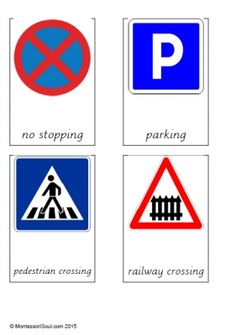 Free montessori printable for road signs