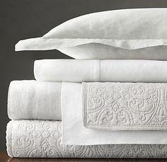 Belgian Linen Sheets, Quilt, & Pillow Cover ~