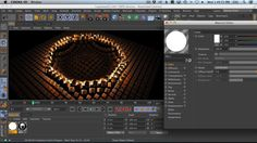 Cinema 4d tutorial  How to Use The Mograph Shader Effector To Animate And Color Clones In C4D