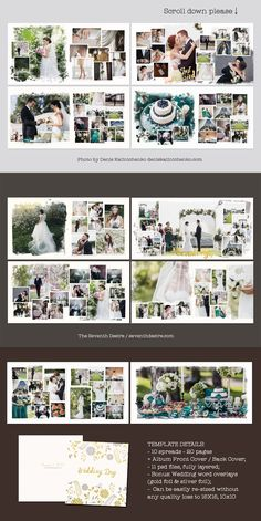 Wedding Photobook Template by TheSeventhDesire on Wedding Photo Album Book, Marriage Photo Album, Wedding Album Cover, Wedding Album Layout, Wedding Album Design, Album Digital, Foto Wedding, Album Cover Design, Atami