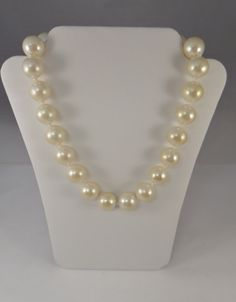 Vintage Carolee Necklace Huge Faux Creamy by TallulahsVintage, $35.00