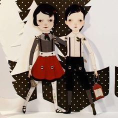 Pop-Out Paper Puppets : Paper Doll Art