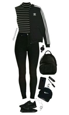 Black sporty chic outfit – Outfits For Summer – Summer Outfits 2019 Sporty Chic Outfits, Teen Fashion Outfits, Swag Outfits, Cute Casual Outfits, Girl Outfits, Fashion Clothes, Sporty Fashion, Golf Fashion, Sporty Clothes