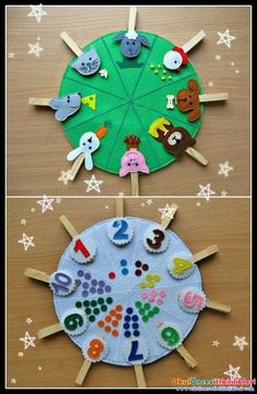 Double sided felt educational toys, matching number busy bag, animals and their food, preschool learning, clothespins game Doubles faces jouets éducatifs feutres correspondance numéro This toy is for children over 2 years. Made of felt in the form of bi Toddler Learning Activities, Montessori Activities, Preschool Activities, Kids Learning, Montessori Toddler, Learning Games, Montessori Education, Preschool Kindergarten, Toddler Toys