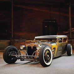 Rat Rods, Rat Rod Cars, Moto Martin, Antique Cars, Vintage Cars, Traditional Hot Rod, Kustom Kulture, Us Cars, Street Rods
