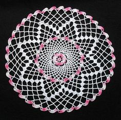 Hook: Boye Size: Made: Exchange doily. Thread Crochet, Crochet Doilies, Tea Roses, Elsa, Decorative Plates, Sewing, Knitting, Pink, Color