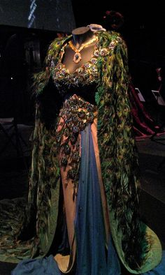 Hedy Lamarr peacock gown