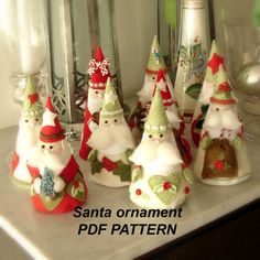 This is a digital download pdf pattern  This listing is for the Pdf pattern for these sweet Christmas decorations. Make these sweet little santas