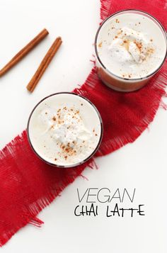 VEGAN CHAI LATTES! Simple, perfectly spicy - sweet #vegan #glutenfree #minimalistbaker