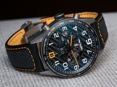 TAG Heuer Carrera Chronograph McLaren Watch - one of my all-time favourite watches. Amazing Watches, Beautiful Watches, Cool Watches, Watches For Men, Men's Watches, Tag Heuer, Carrera Watch, Hand Watch, Watch Brands