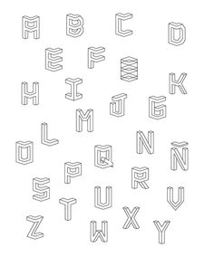 ISOMETRIC // TYPEFACE on Typography Served