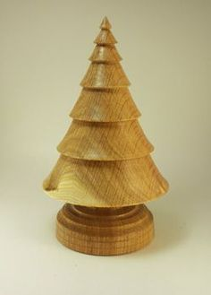 turned wood Christmas tree