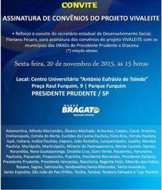 .: Bragato reforça convite para assinatura de convênio