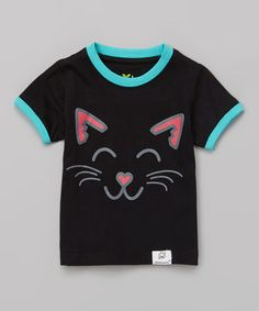 Another great find on #zulily! Black & Pink Cat Tee - Infant & Toddler by Doodle Pants #zulilyfinds