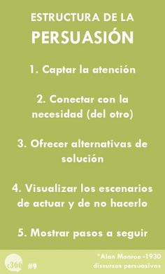 Estructura de la persuasión #tips de #comunicacion (scheduled via http://www.tailwindapp.com?utm_source=pinterest&utm_medium=twpin&utm_content=post2767697&utm_campaign=scheduler_attribution)