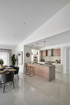 Neutral tones lead to a relaxing atmosphere in the Freedom by Metricon Whiteley on display in Werribee VIC. Kirchen Design, Home Theater Rooms, Best Flooring, Piece A Vivre, Display Homes, Finding A House, Kitchen Interior, Home Kitchens, Decoration