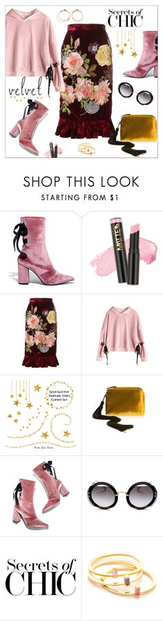 """""""Secrets of chic...velvet...."""" by nihal-imsk-cam ❤ liked on Polyvore featuring Robert Clergerie, L.A. Girl, Alice Archer, The Row, Miu Miu, Jennifer Zeuner, Loewe and velvet"""
