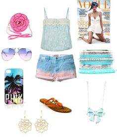 """All New: Summer All Most Here"" by lyriclovesjuicy ❤ liked on Polyvore"