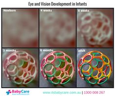 baby development Did you know that your newborn's vision isn't completely developed when they… Baby Lernen, Baby Vision, Baby Information, Foto Baby, Baby Care Tips, Babies First Year, Baby Health, Everything Baby, Baby Milestones