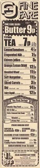 1972 advert from Fine Fare - I remember shopping there with my Mum 1970s Childhood, My Childhood Memories, Great Memories, Nostalgia 70s, Vintage Advertisements, Vintage Ads, Retro Sweets, Glasgow Scotland, I Remember When