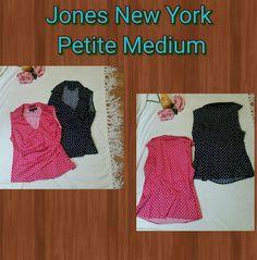 JONES NEW YORK Women Petite PM Sleeveless Button Top Polk Dot Shirt Lot | Clothing, Shoes & Accessories, Women's Clothing, Tops & Blouses | eBay!