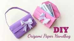 How to make Paper handbag? Origami Paper Craft Ideas || Easy Origami Pap...