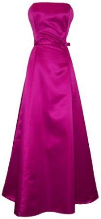 50's Strapless Satin Long Gown Bridesmaid Prom Dress Holiday Formal Junior Plus Size