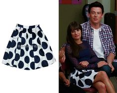 Eva Franco Shirley Skirt in Adriana Dot - No longer available  Worn with: Tory Burch pumps