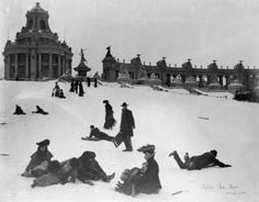 A Look Back • World's Fair cleared way for a popular tradition: sledding on Art Hill via stltoday.com.