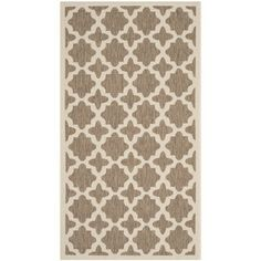 @Overstock.com - Safavieh Indoor/ Outdoor Courtyard Brown/ Bone Rug (2'7 x 5') - Safavieh's Courtyard collection is inspired by timeless designs crafted with the softest polyproplene available.  http://www.overstock.com/Home-Garden/Safavieh-Indoor-Outdoor-Courtyard-Brown-Bone-Rug-27-x-5/8140179/product.html?CID=214117 $28.34