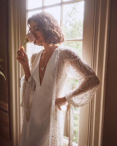 """BHLDN Weddings on Instagram: """"Stopping to smell the roses…and so you have a chance to appreciate the Adria Cape and Alexandra Gown. (P.S. Alexandra is now available to…"""" 2 Piece Wedding Dress, Wedding Dress Separates, Bhldn Wedding Dress, Bridal Separates, Wedding Dress Styles, Wedding Attire, Vintage Inspired Wedding Dresses, White Wedding Dresses, Vintage Weddings"""