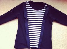 #Tuxedo t-shirt #sewing tutorial and pattern -- how cute!