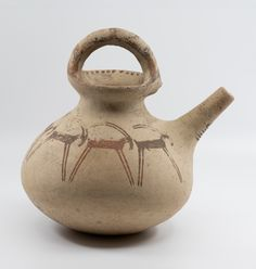 Iran, Luristan ware pitcher decorated with ibexes, c BC Susa, Iron Age, Ancient Artifacts, Antiquities, Iran, Tea Pots, Museum, Collections, History