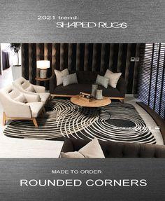 Luxury rugs Contemporary Rugs, Round Corner, Rug Making, Animal Print Rug, Carpet, Shapes, Luxury, Modern, Design