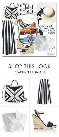 """""""Chicwish - Tale of land and sea"""" by violetta-valery ❤ liked on Polyvore featuring Dolce&Gabbana, Alexander Wang, Chicwish and Barneys New York"""