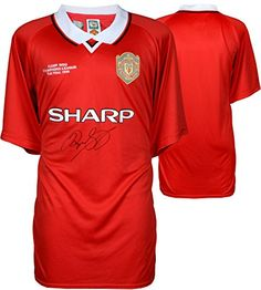 Ryan Giggs Manchester United Autographed Red 1999 Champs Jersey Signed on Front - ICONS - Fanatics Authentic Certified