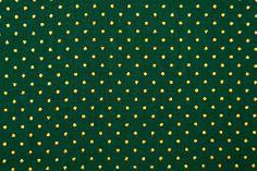 Baumwoll-Dekorationsstoff - Goldtupfen - Grün
