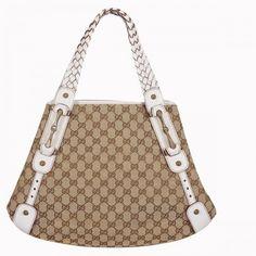e46605bdbb9a10 Gucci Pelham Medium Shoulder Bag Beige-White 137621 Sale Gucci Purses, Gucci  Handbags,