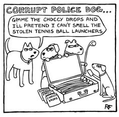 Dog corruption.