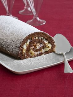 German Chocolate Cake Roll by Food Network