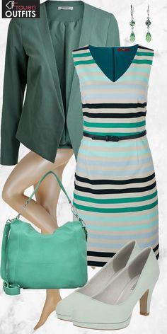 Schicker Look aus s. Oliver Etuikleid, mintfarbenen Pumps und einer türkisen Tasche... #fashion #fashionista #mode #damenmode #frauenmode #damenoutfit #frauenoutfit #outfit #inspiration #outfitinspiration #kleidung #klamotten #frühling #sommer #trend2018 #trend