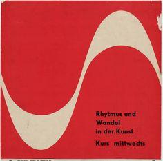 Otl Aicher (also known as Otto Aicher). Rhythmus und Wandel in der Kunst. c. 1950