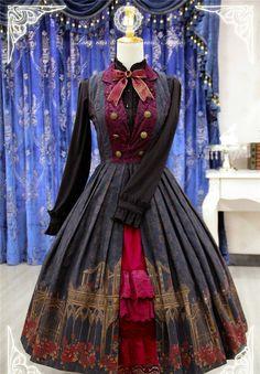 Thorn Castle~ Lolita Printed JSK Dress Version II -Pre-order