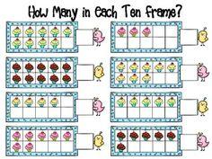 FREE ten frame worksheet