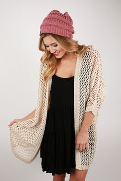 This versatile cardigan is perfect for any time of year!
