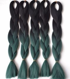 S-noilite 100g/pack 24inch Braiding Hair Ombre Two Tone Colored Jumbo Braids Hair Synthetic Hair For Dolls Crochet Hair Clear And Distinctive Hair Extensions & Wigs Hair Braids